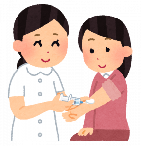 インフルエンザの予防接種イラスト